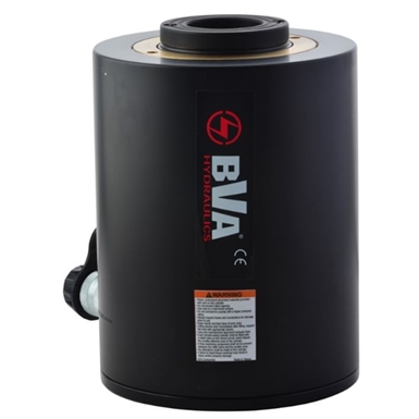 BVA Hydraulics Single Acting Hollow Hole Aluminum Cylinders HUC3003