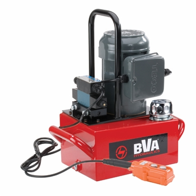 BVA Hydraulics Electric Pumps with Auto Return Valve for Single Acting Cylinders PE30DSP02A