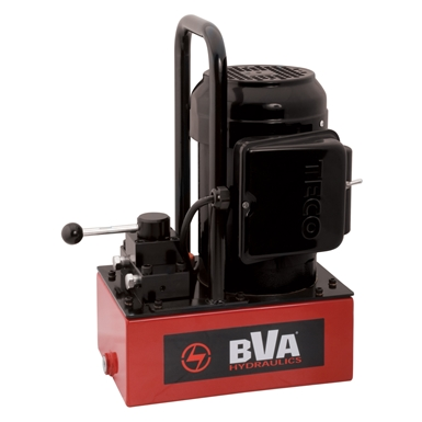 BVA Hydraulics Manual Valve Electric Pumps for Single Acting Cylinders PE30M3N01A