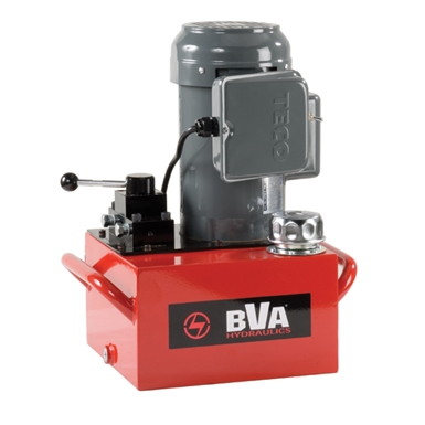 BVA Hydraulics Electric Pumps with Locking Manual Valve for Double Acting Cylinders PE30M4L01A