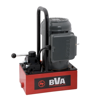 BVA Hydraulics Electric Pumps with Manual Valve for Double Acting Cylinders PE30M4N01A