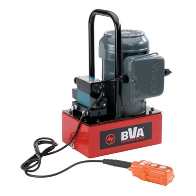 BVA Hydraulics Electric Pumps with Locking Solenoid Valve for Single Acting Cylinders PE30S3L01A