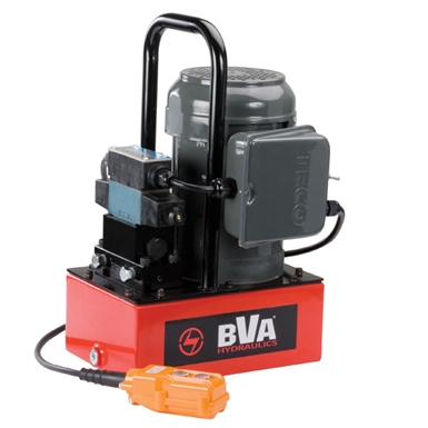BVA Hydraulics Electric Pumps with Locking Solenoid Valve for Double Acting Cylinders PE30S4L01A