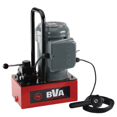 BVA Hydraulics Electric Pumps with Pendant Switch for Double Acting Cylinders PE30W4N01A