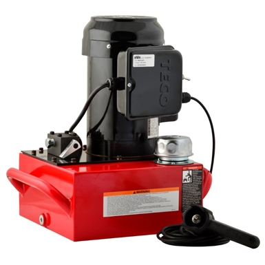 BVA Hydraulics Electric Pumps with Auto Return Valve for Single Acting Cylinders PE40DMP02A