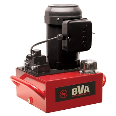 BVA Hydraulics Manual Valve Electric Pumps for Single Acting Cylinders PE40M3N02A