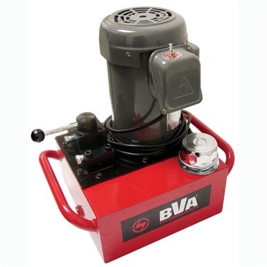 BVA Hydraulics Electric Pumps with Manual Valve for Double Acting Cylinders PE40M4N02A