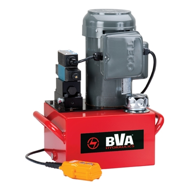 BVA Hydraulics Electric Pumps with Locking Solenoid Valve for Single Acting Cylinders PE40S3L02A