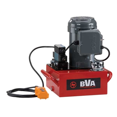 BVA Hydraulics Electric Pumps with Locking Solenoid Valve for Double Acting Cylinders PE40S4L02A