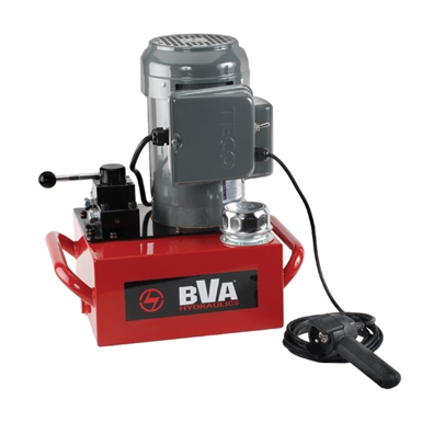 BVA Hydraulics Electric Pumps with Locking Manual Valve and Pendant Switch for Double Acting Cylinders PE40W4L02A