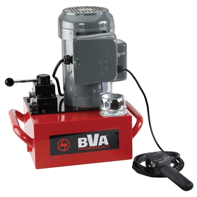 BVA Hydraulics Electric Pumps with Pendant Switch for Double Acting Cylinders PE40W4N02A