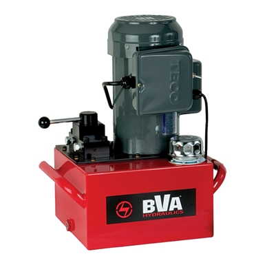 BVA Hydraulics Electric Pumps with Locking Manual Valves for Single Acting Cylinders PE50M3L10A
