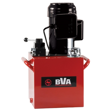 BVA Hydraulics Manual Valve Electric Pumps for Single Acting Cylinders PE50M3N05A