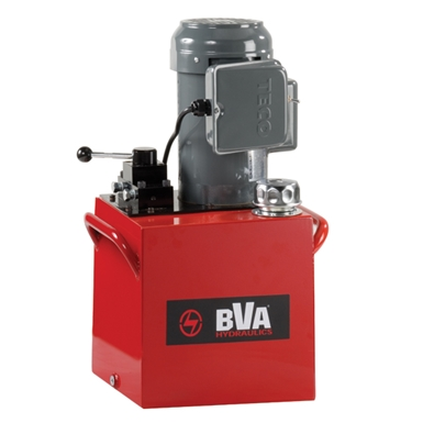 BVA Hydraulics Electric Pumps with Locking Manual Valve for Double Acting Cylinders PE50M4L15A