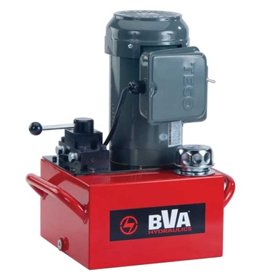 BVA Hydraulics Electric Pumps with Manual Valve for Double Acting Cylinders PE50M4N03A