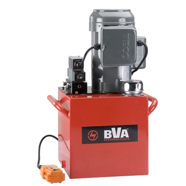 BVA Hydraulics Electric Pumps with Locking Solenoid Valve for Single Acting Cylinders PE50S3L05A