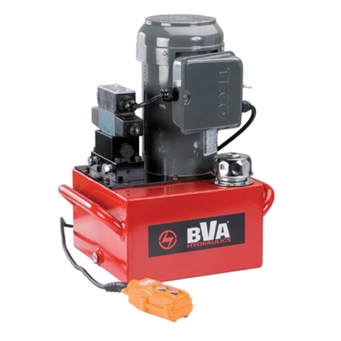 BVA Hydraulics Electric Pumps with Locking Solenoid Valve for Double Acting Cylinders PE50S4L15A