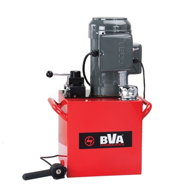 BVA Hydraulics Electric Pumps with Locking Manual Valve and Pendant Switch for Single Acting Cylinders PE50W3L05A
