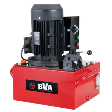 BVA Hydraulics Electric Pumps with 3 Phase Electric Motor for Single Acting Cylinders PE60M3N06G