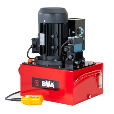 BVA Hydraulics Electric Pumps with 3 Phase Electric Motor for Single Acting Cylinders PE60S3L40J