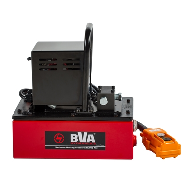 BVA Hydraulics Single Acting Light Weight Electric Pumps PU20DMP01C