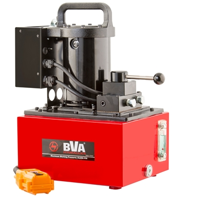 BVA Hydraulics Double Acting Light Weight Electric Pumps PU55M4N025B